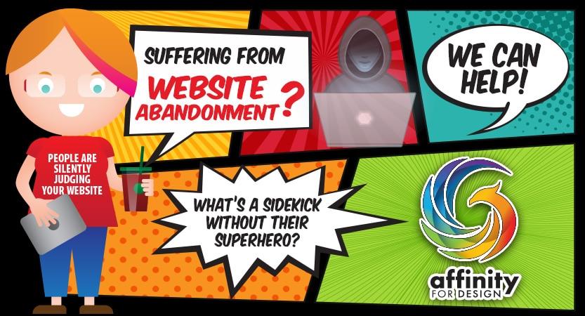 Website Abandonment comic strip