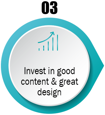 Invest in good content and great design